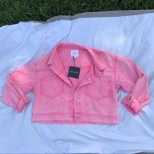 Baby pink jean jacket